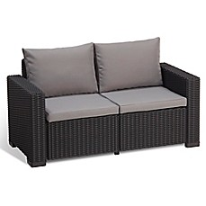 Keter California All Weather Loveseat With Cushions