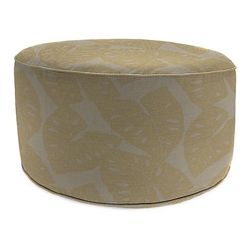 Buy outdoor round pouf ottoman in sunbrella radiant dune for Ulani outdoor round pouf ottoman