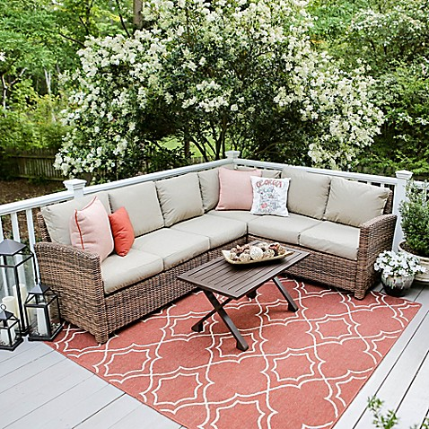leisure made dalton 5 piece sectional patio furniture set - Bed Bath And Beyond Patio Furniture