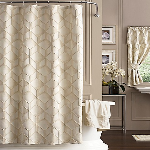 J. Queen New York Horizons Shower Curtain In Ivory