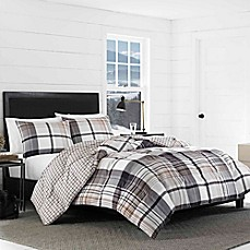 image of Eddie Bauer® Normandy Plaid Reversible Comforter Set