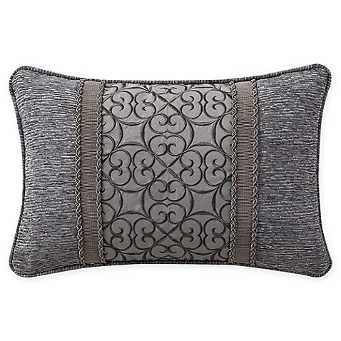 Buy Waterford Carrick Oblong Throw Pillow in Silver/Gold from Bed Bath & Beyond