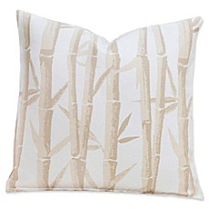 image of Revolution+ Anji Garden 20-Inch Square Throw Pillow in Beige/Silver