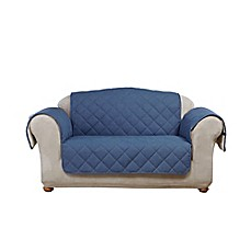 image of Sure Fit® Reversible Denim and Sherpa Furniture Cover Collection