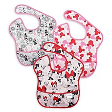 image of Disney Baby 3-pack Minnie Mouse Waterproof SuperBib from Bumkins®