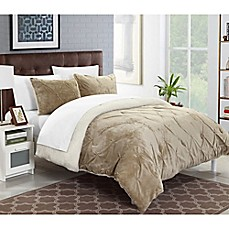 image of Chic Home Adele Sherpa-Lined Comforter Set