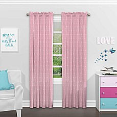 image of SolarShield® Cute Crowns Rod Pocket Room Darkening Window Curtain Panel