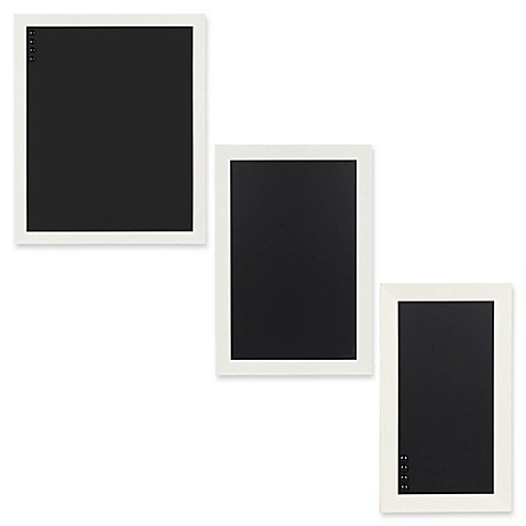 Kate and Laurel Beatrice Framed Magnetic Chalkboard in White - Bed ...