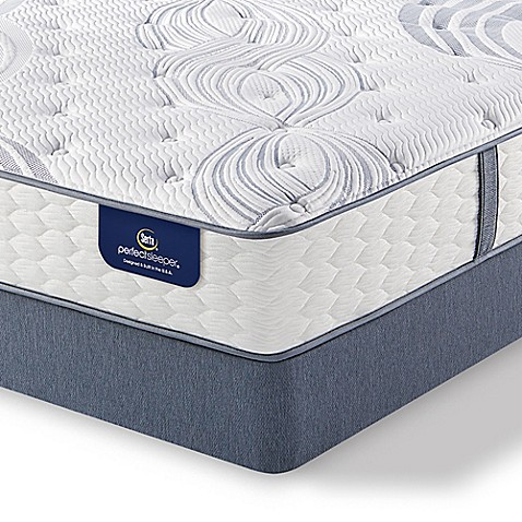 Buy Serta Perfect Sleeper Lealake Super Pillow Top Low Profile Twin Mattress Set From Bed Bath