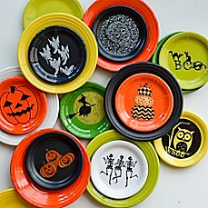 fiesta halloween luncheon and appetizer plate collection