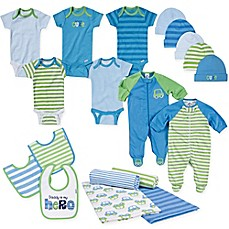 image of Gerber® Size 0-3M 19-Piece Car Layette Set in Blue