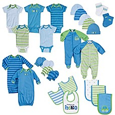 image of Gerber® Size 0-3M 26-Piece Car Layette Set in Blue