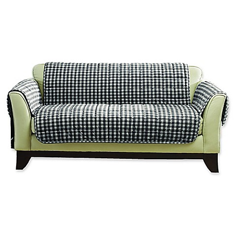 Buy Sure Fit Deluxe Armless Loveseat Slipcover In Buffalo Plaid From Bed Bath Beyond