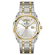 image of Bulova Men's 39mm Class Dress Watch in Two-Tone Stainless Steel