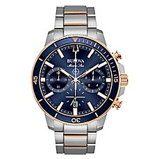 image of Bulova Men's 45mm Marine Star Chronograph Watch in Rose-Goldtone Stainless Steel