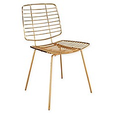 image of Abbyson Living Jayce Iron Dining Chair in Gold