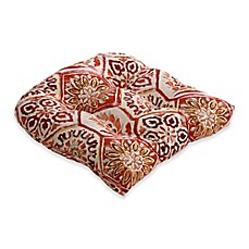 image of Pillow Perfect Summer Breeze Chair Pad in Red
