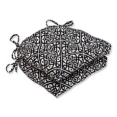 Image Of Pillow Perfect Lace It Up Chair Pads In Black Set 2