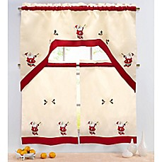 Santa 36 Inch Kitchen Window Curtain Tiers And Valance