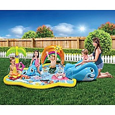 Kids toys tents learning toys pretend play toys buybuy baby banzai splish splash inflatable water park with canopy gumiabroncs Gallery