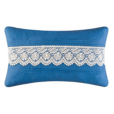 Wedgewood Lace Oblong Throw Pillow in Blue - Bed Bath & Beyond