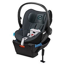 image of Cybex Cloud Q Infant Car Seat with Load Leg Base in Black Sea