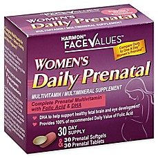 image of Harmon® Face Values™ 60-Count Women's Daily Prenatal Multivitamin Supplement
