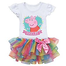 image of Peppa Pig™ Heart Rainbow Tutu T-Shirt