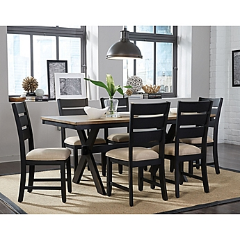 Cheap Dining Room Table And Chairs. image of Standard Furniture Braydon 7 Piece Table and Chair Set in Rustic  Brown Dining Sets Bed Bath Beyond