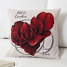 image of Blooming Heart Throw Pillow