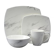 image of Oneida® Moda Couture Square 16-Piece Dinnerware Set  sc 1 st  Bed Bath \u0026 Beyond & Dinnerware Sets: Stoneware Square Dinnerware and more - Bed Bath ...