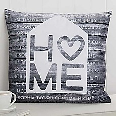 image of Home is Love 18-Inch Square Throw Pillow