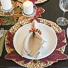 Image Of Fall Leaves Thanksgiving Table