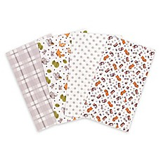 image of Trend Lab® 4-Pack Wild Bunch Burp Cloth Set