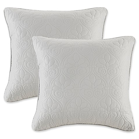 Madison Square 18-Inch Decorative Pillows : Buy Madison Park Quebec 20-Inch Square Throw Pillows in Grey (Set of 2) from Bed Bath & Beyond