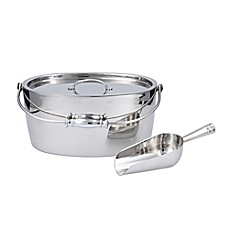 image of Crafthouse by Fortessa Stainless Steel Ice Bucket and Scoop