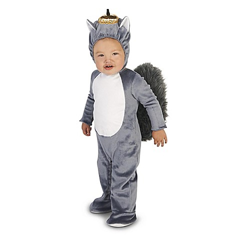 squirrel size 12 18m infant halloween costume in grey