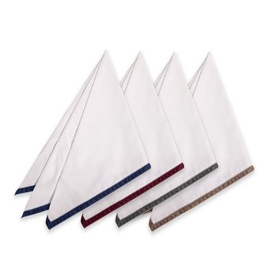 image of Velvet Trim Napkins (Set of 4)