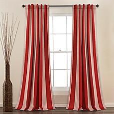 Lush Decor Julia Stripe Rod Pocket Room Darkening Window Curtain Panel Pair