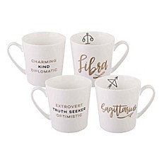 image of Formations Zodiac Mug Collection in White/Gold