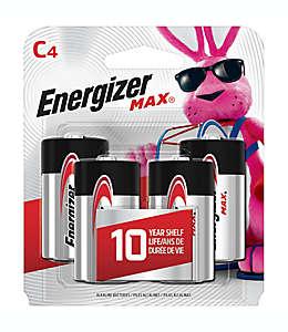 Baterías C Energizer® MAX, de 1.5 voltios, Paquete de 4 pzas.
