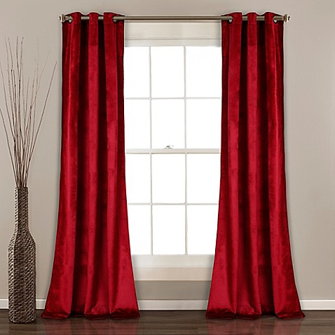 Bed Bath And Beyond Red Velvet Curtain