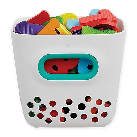 Bath accessories oxo tot bath toy bin in teal from buy for Teal bathroom bin