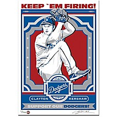 image of MLB Los Angeles Dodgers Clayton Kershaw That's My Ticket Serigraph