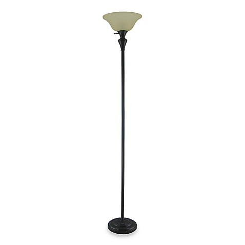 Torchiere floor lamp in bronze with cfl bulb bed bath beyond torchiere floor lamp in bronze with cfl bulb aloadofball Image collections