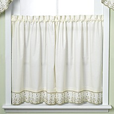 image of Abby Kitchen Window Curtain Tier Pair