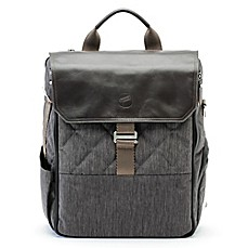 image of Paperclip Bear Diaper Bag in Charcoal Black