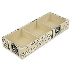 image of Home Basics Paris 3-Compartment Jewelry Organizer