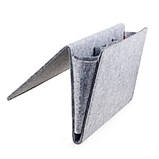 image of Kikkerland® Large Bedside Felt Storage Pocket in Grey