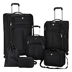 image of Travelers Club® Hartford 6-Piece Soft Side Luggage Set